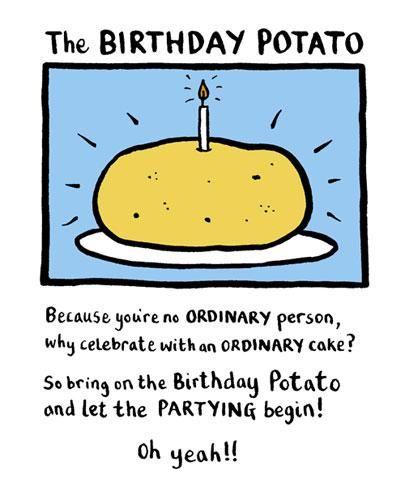 The Birthday Potato Card - Edward Monkton