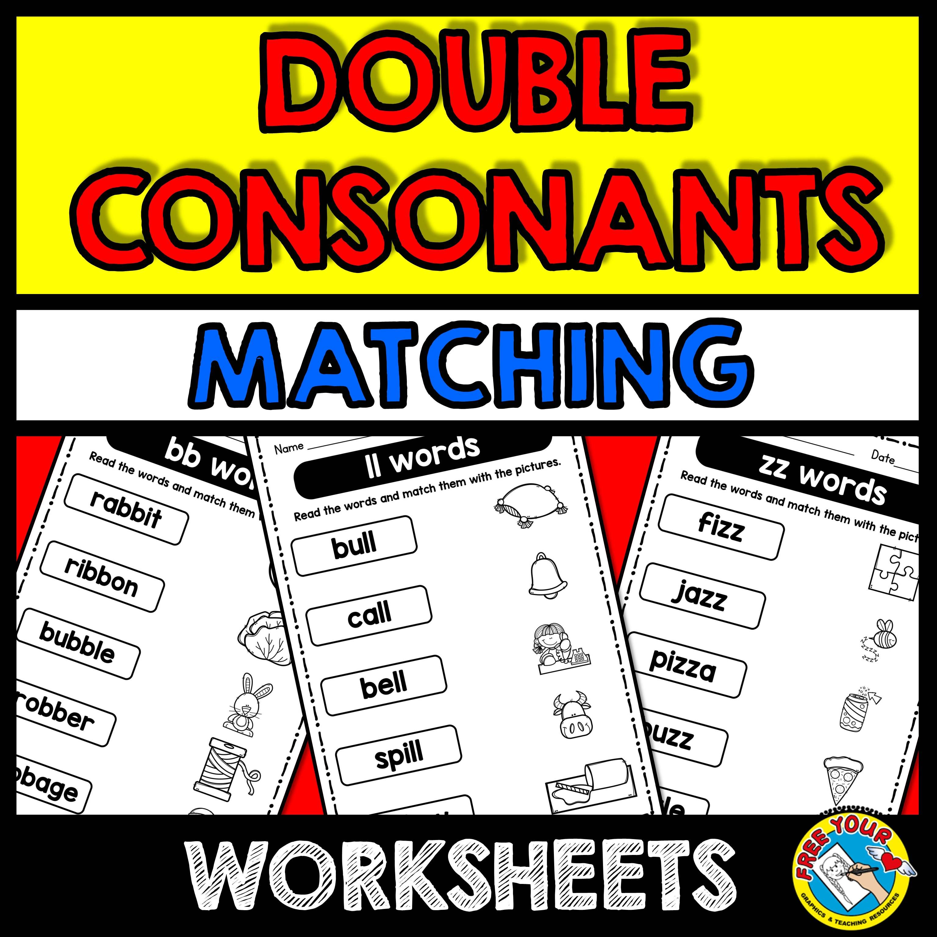 Double Consonants Activities Word Work Phonics Worksheets