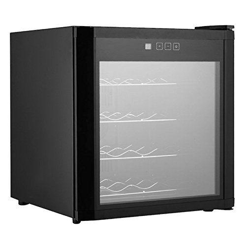 16 Bottles Wine Cooler Fridge Refrigerator Cellar Rack Storage Holder Cabinet Chiller Home Restaurant Kitchen Dining