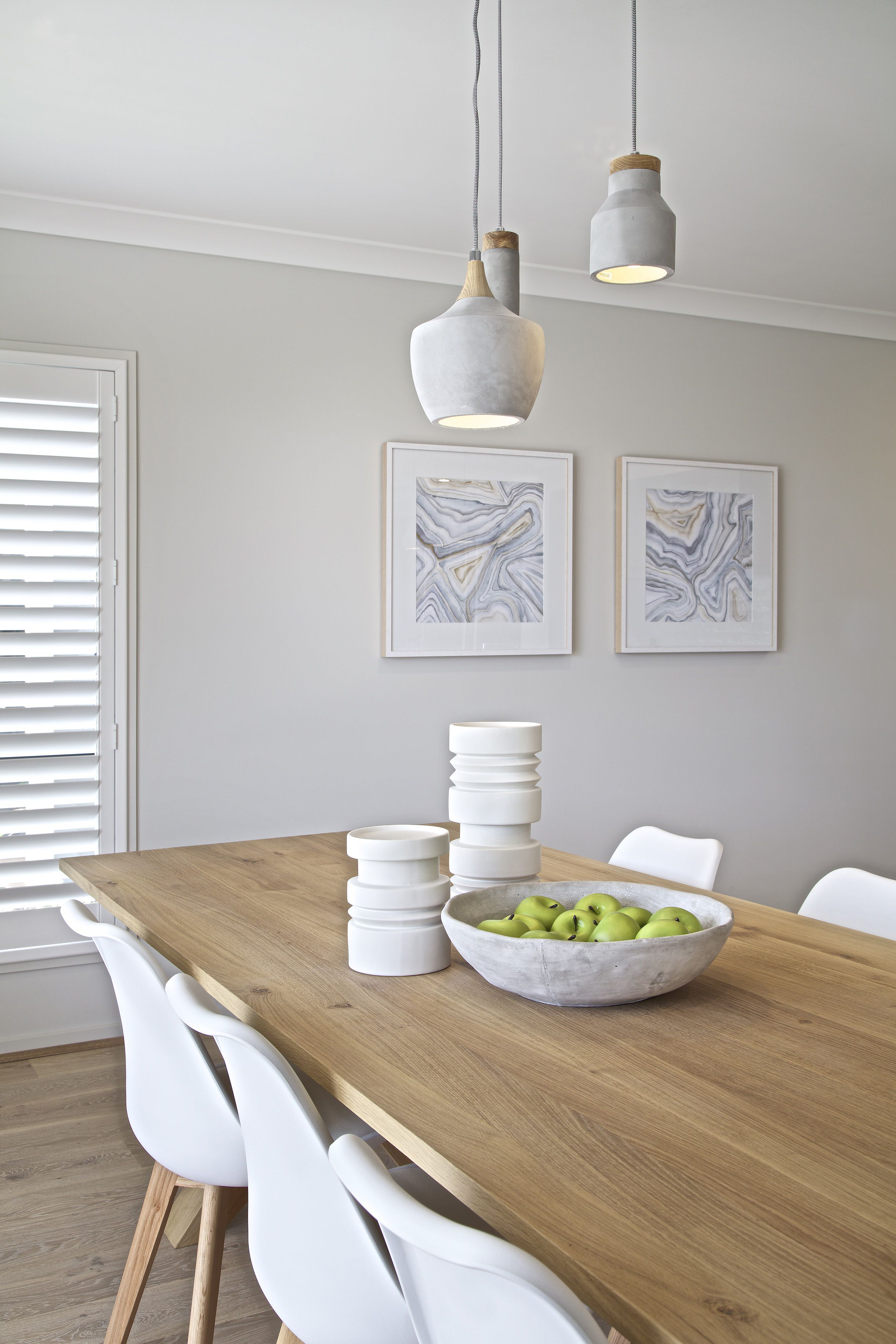 Clarendon Homes. Sheridan 37. White and soft timber dining room ...
