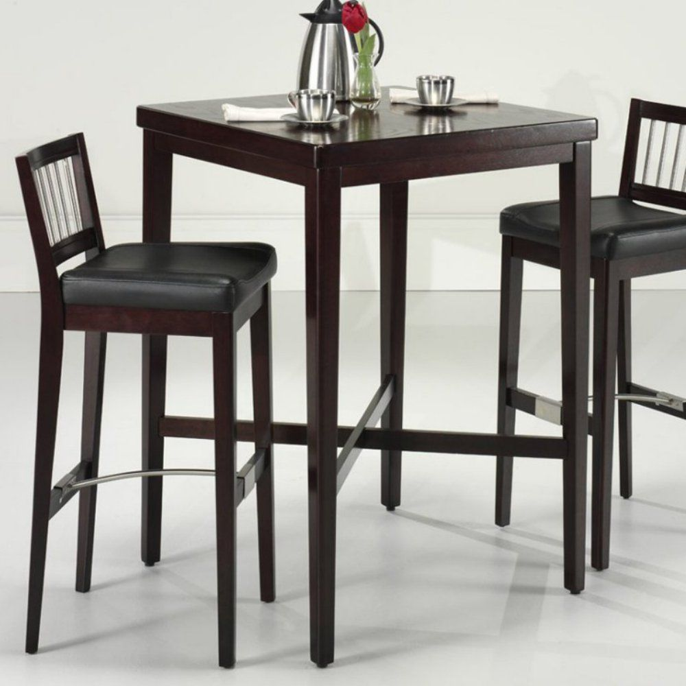 Home Styles 3 Piece Cherry Square Pub Set Tables At Hayneedle