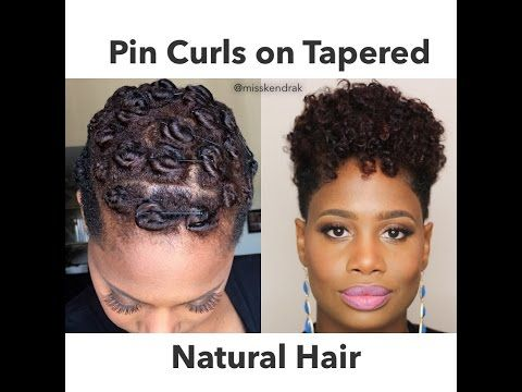 Pin Curls on Tapered Natural Hair | 2 Methods - YouTube