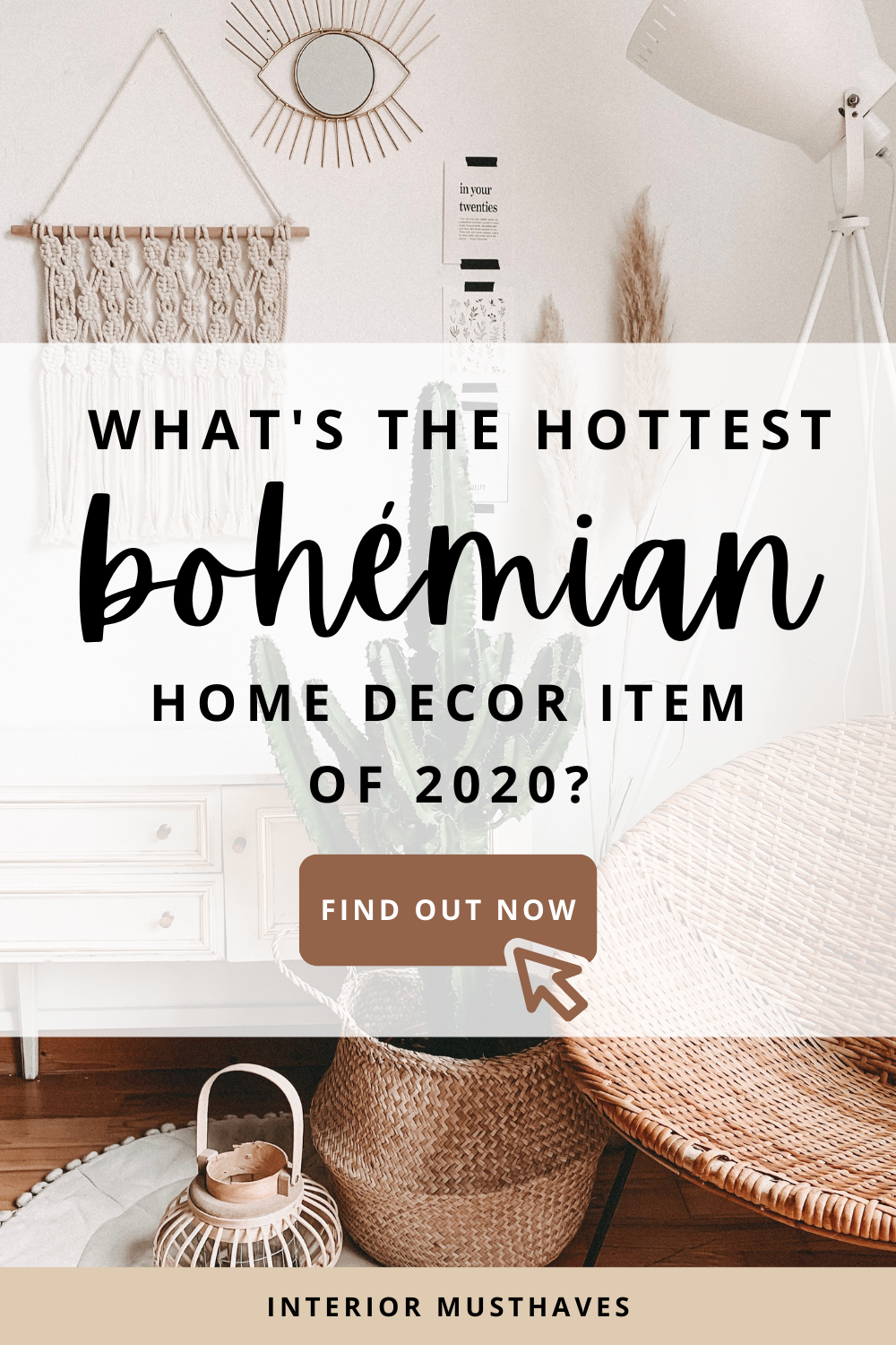 Are you looking for the hottest bohemian home decor item that creates an instant boho look? Click to find out! #bohemianinterior #bohemiandecor #bohemianinspo #decorlover #homedecor #bohodecor #bohodecoration #bohemiandecoration #interiordecor #bohointerior #bohemianinterior