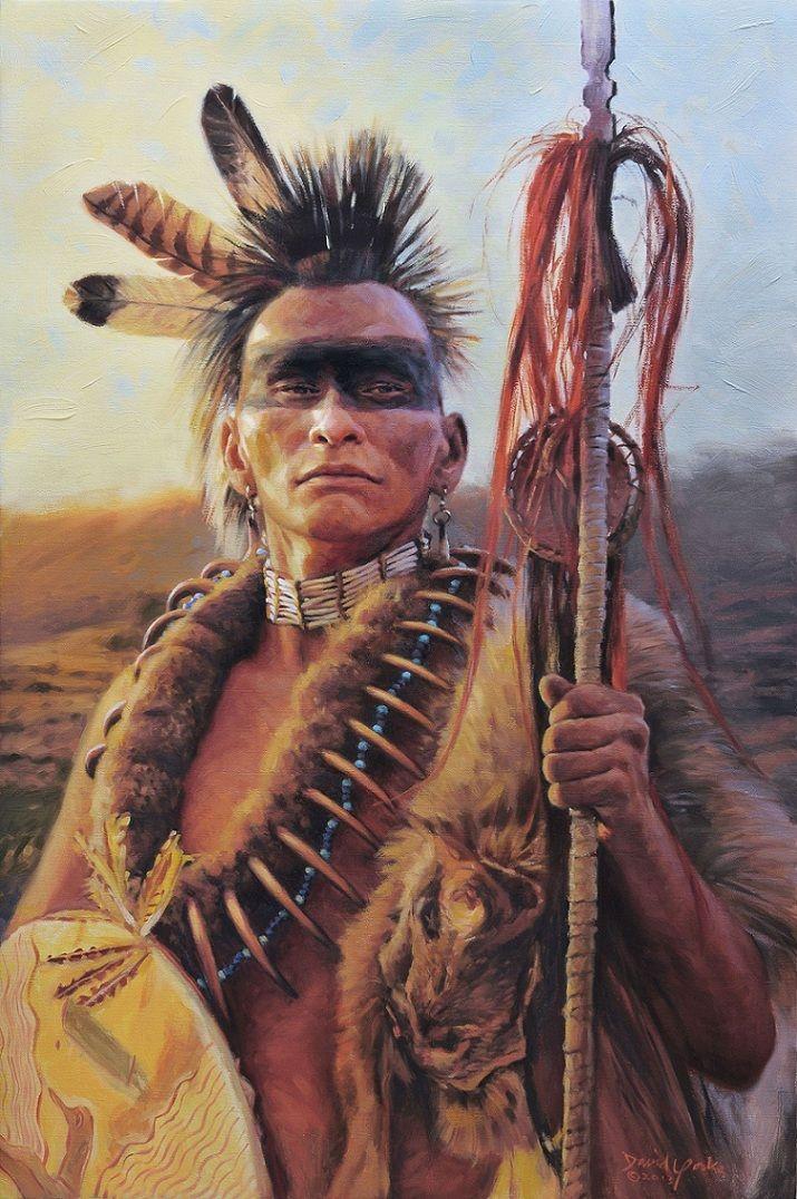 Amerindian: David Yorke's art | Native american warrior, Native american artwork, Native american men
