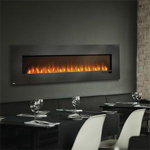 Napoleon 72 Inch Slimline Black Wall Mount Electric Fireplace