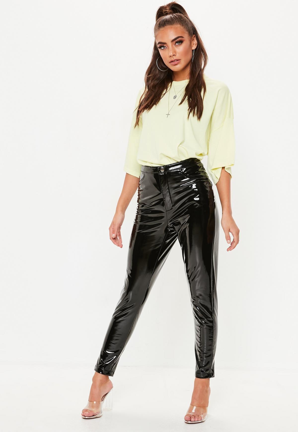 a2f17630a8c891 Black Vinyl Pants | Photos | Vinyl trousers, Pants, Missguided