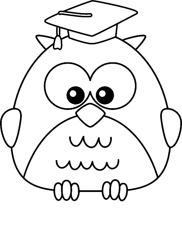 Graduate Owl Coloring Page Download Print Online Coloring Pages For Free Color Nimbu Owl Coloring Pages Kindergarten Coloring Pages Online Coloring Pages
