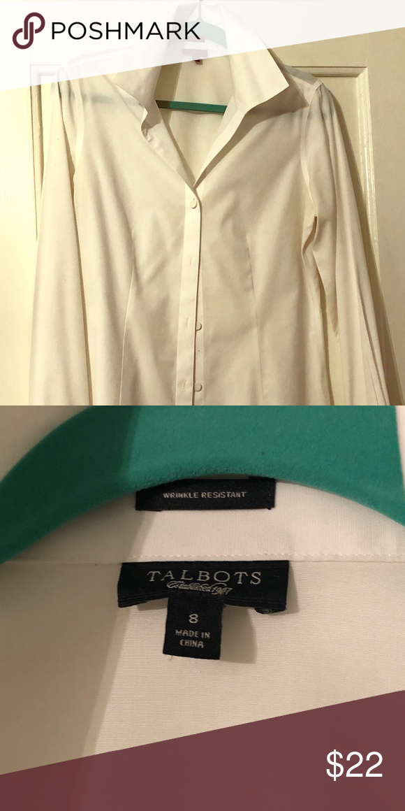 cbff57454 Talbots Perfect White Shirt Talbots Perfect White Shirt, size 8. Covered  Buttons, French