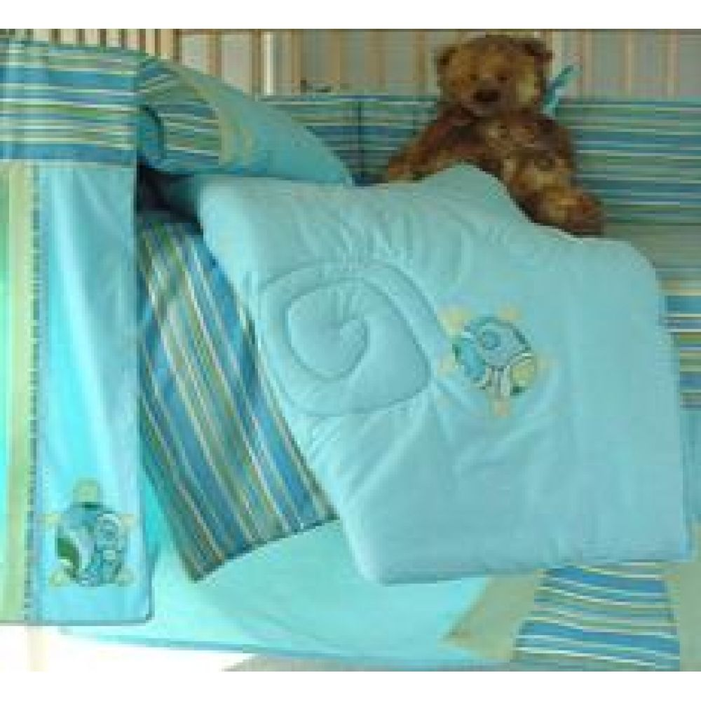 Touches of turquoise for the nursery (Baby Bedding Set ...