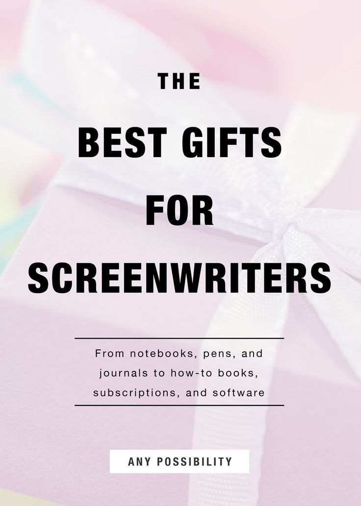 The Best Gifts for Screenwriters Screenwriting Tips Pinterest