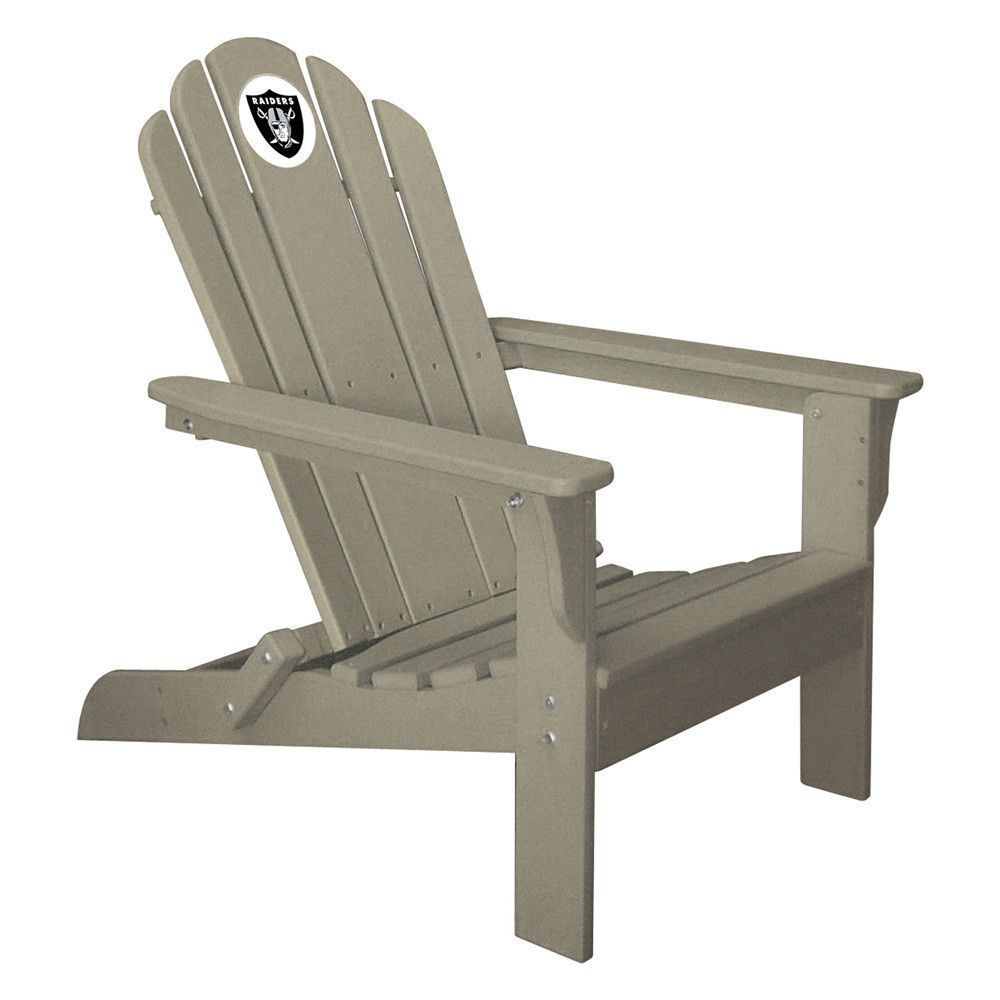 Oakland Raiders Folding Composite Adirondack Patio Chair In Gray