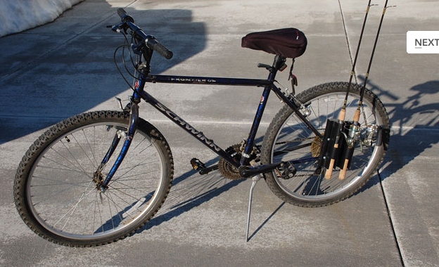 Ride In To Those Hard To Get Holes Bike Fisherman Fishing Rod