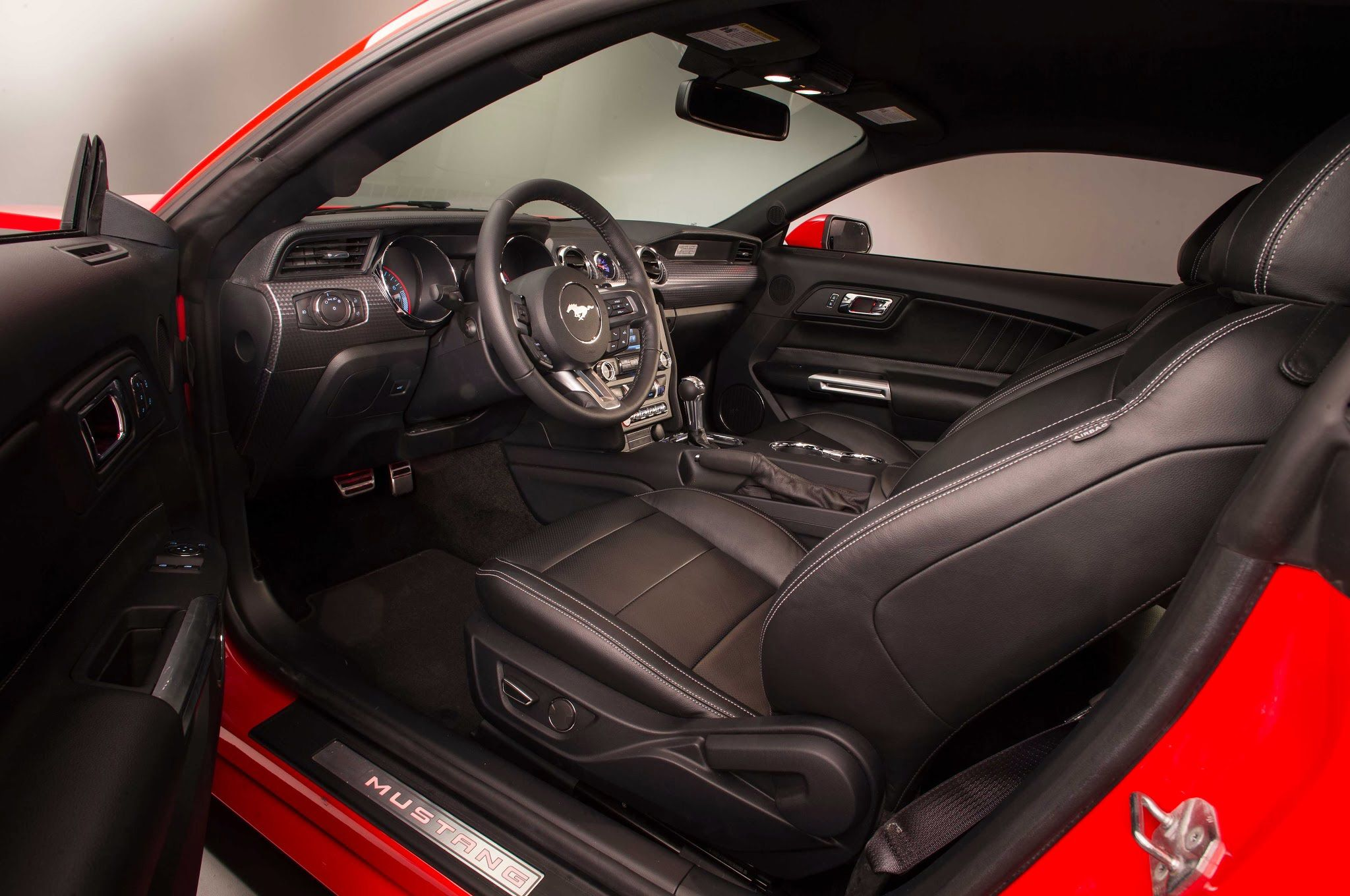 2015 Ford Mustang 5.0, Red, Interior, Through Driver Door