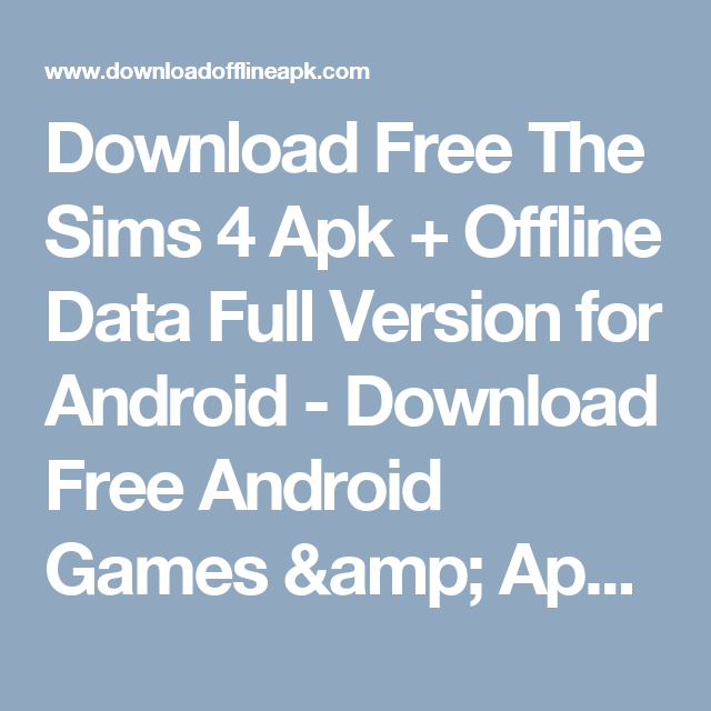 download games the sims 4 for android