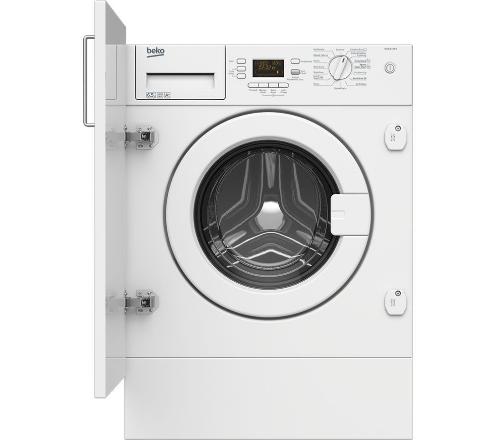 Beko Wmi61241 Integrated Washing Machine 289 Integrated Washing Machines Washing Machine Washing Machine Cheap