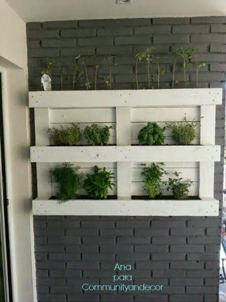 Beneficios de crear un huerto urbano con palets para casa - Huerto vertical casero ...