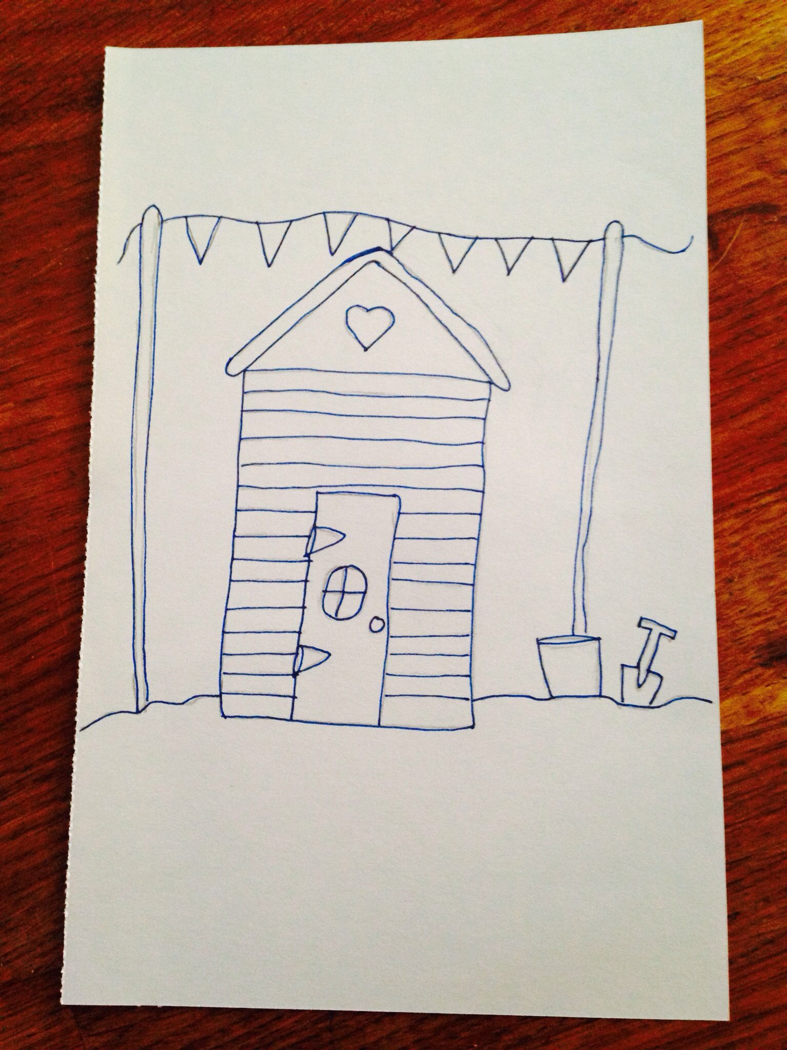 Simple Beach Hut Drawing Embroidery Ideas Tattoo