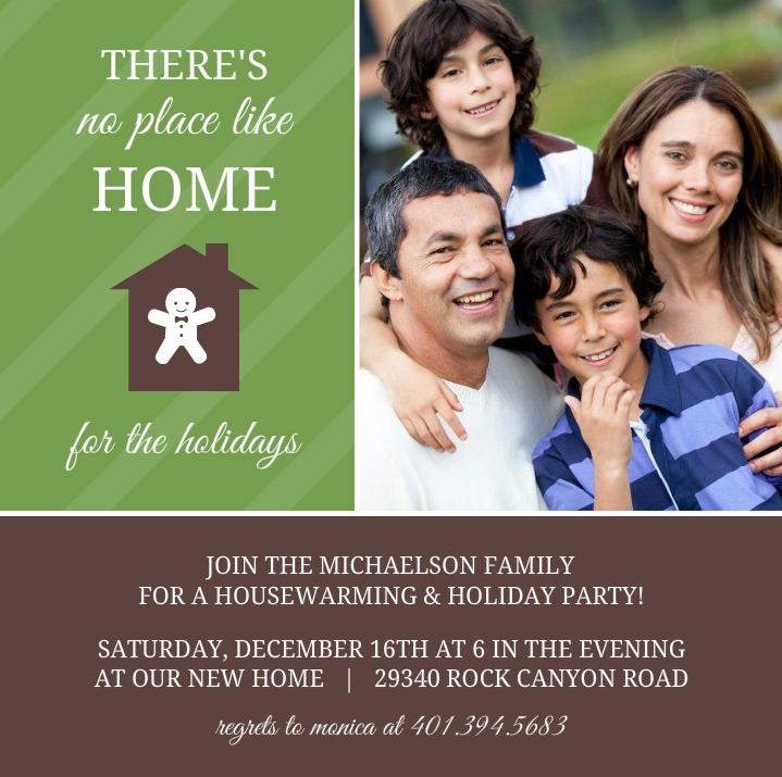 CHEAP Green Stripes Holiday Housewarming Invitation by InviteShop – Cheap Housewarming Party Invitations