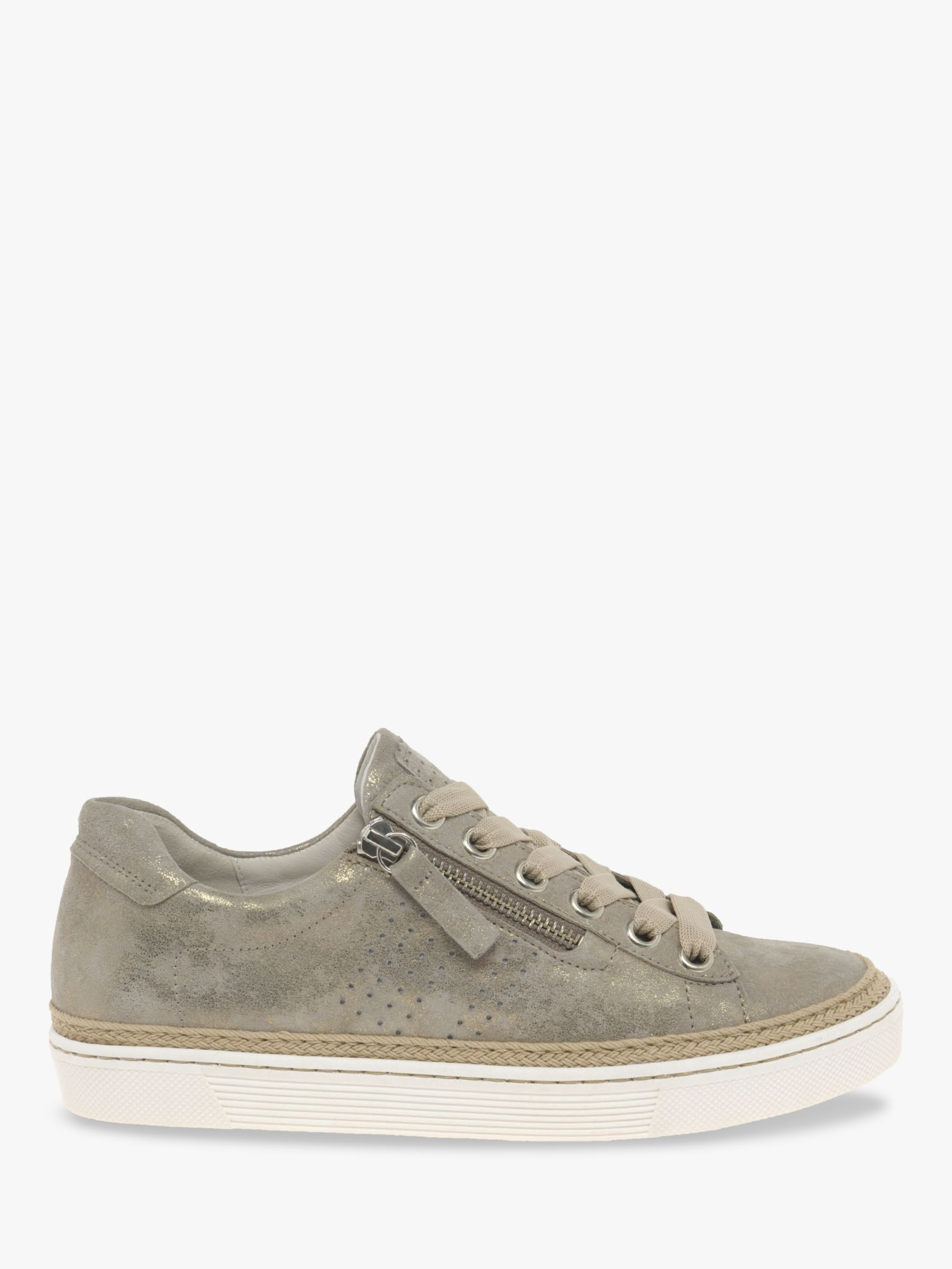 wide fit leather trainers