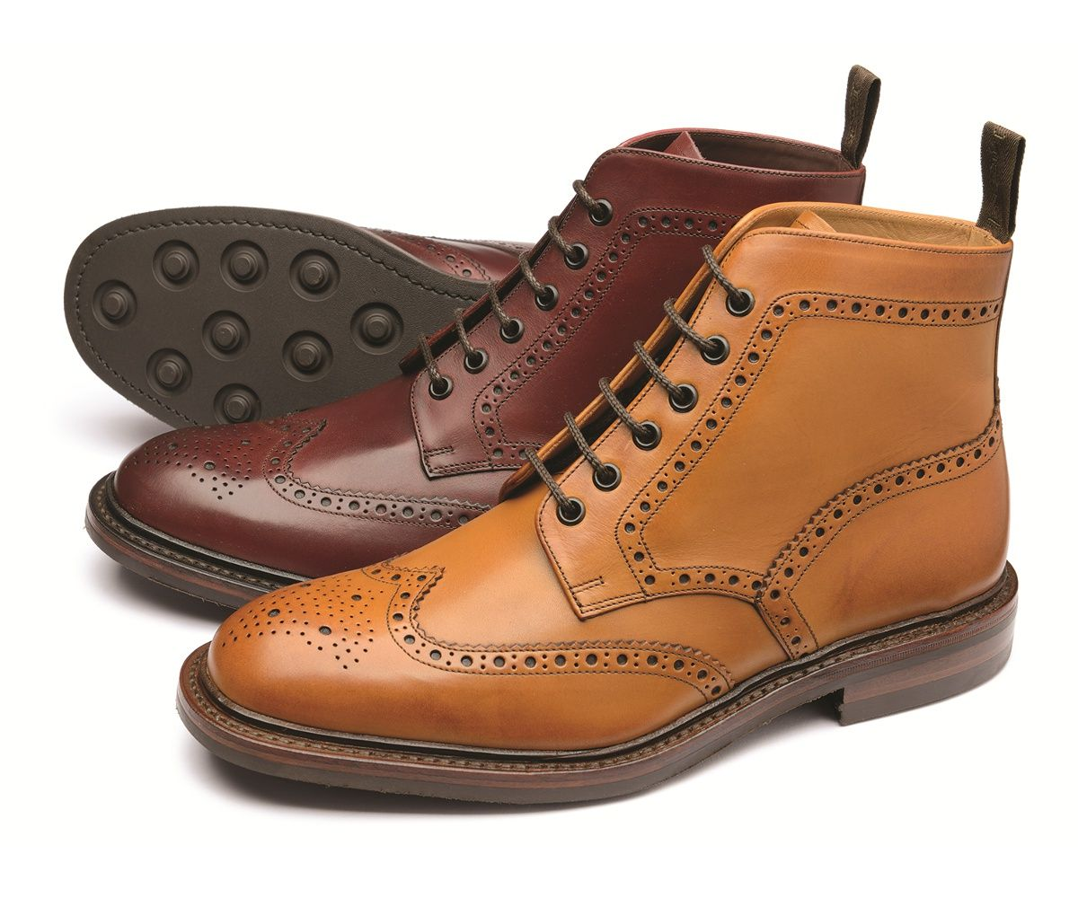 Our classic brogue boot 'Burford' is now available with a