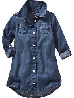 c78ec24d6 Denim Shirt Dress for Baby | Old Navy | Baby ideas | Toddler denim ...