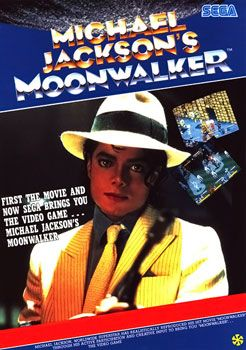 Michael Jackson's Moonwalker arcade version - Different from the console versions, Moonwalker is an arcade video game by Sega & Triumph International, with the help of Michael, which was released on the Sega System 18 hardware.The arcade has distinctively different gameplay from its computer and console counterparts, focusing more on beat 'em up gameplay elements rather than platform.