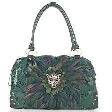 Sharif Snakeskin Feathered Handbag