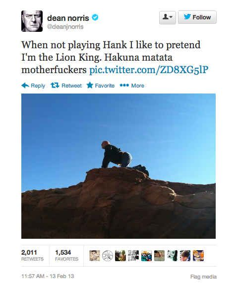 "18 Surprisingly Funny Tweets From ""Breaking Bad""'s Dean"
