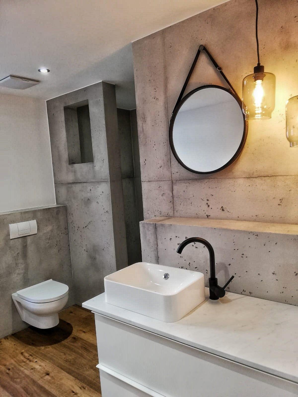 Betonoptik Im Badezimmer Wandgefuhl Frank Loken Bodengestaltung Wand Badezimmer