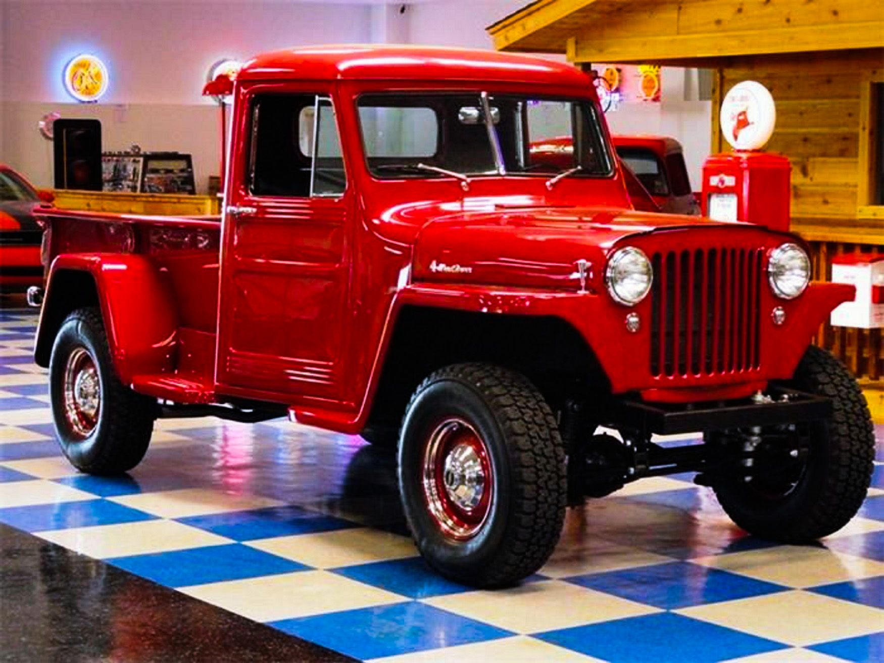 Rare 47 Willys PickUp 4x4 with Original DriveTrain, 3
