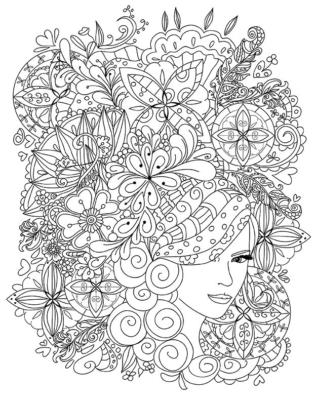 Buyukler Icin Boyama Kitabi CizimleriDrawings Coloring Book For Adults