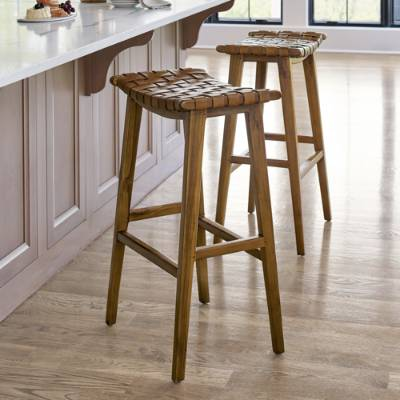 Augusto Backless Bar Counter Stool Counter Stools Backless