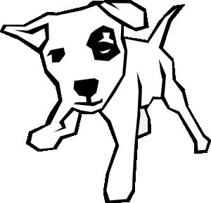 dog simple drawing clip art vector clip art online royalty free rh pinterest com free black and white dog and cat clipart Black and White Cow Clip Art Free