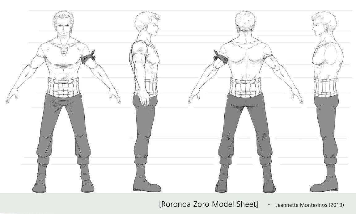 zoro model sheet by jeannette11 character reference pinterest