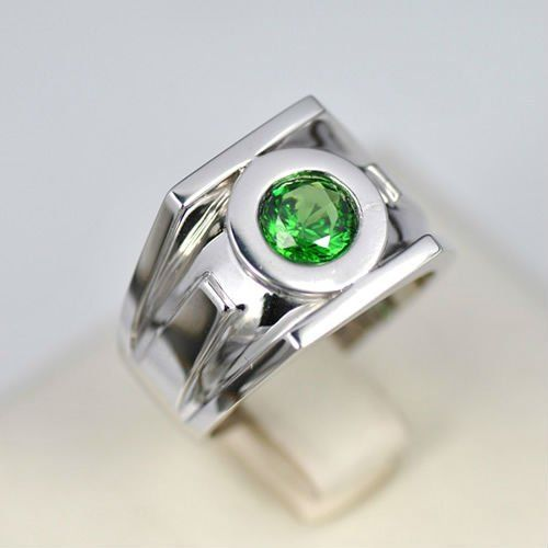 Green Lantern Emerald 925 Silver Rings For Men Rings Pinterest