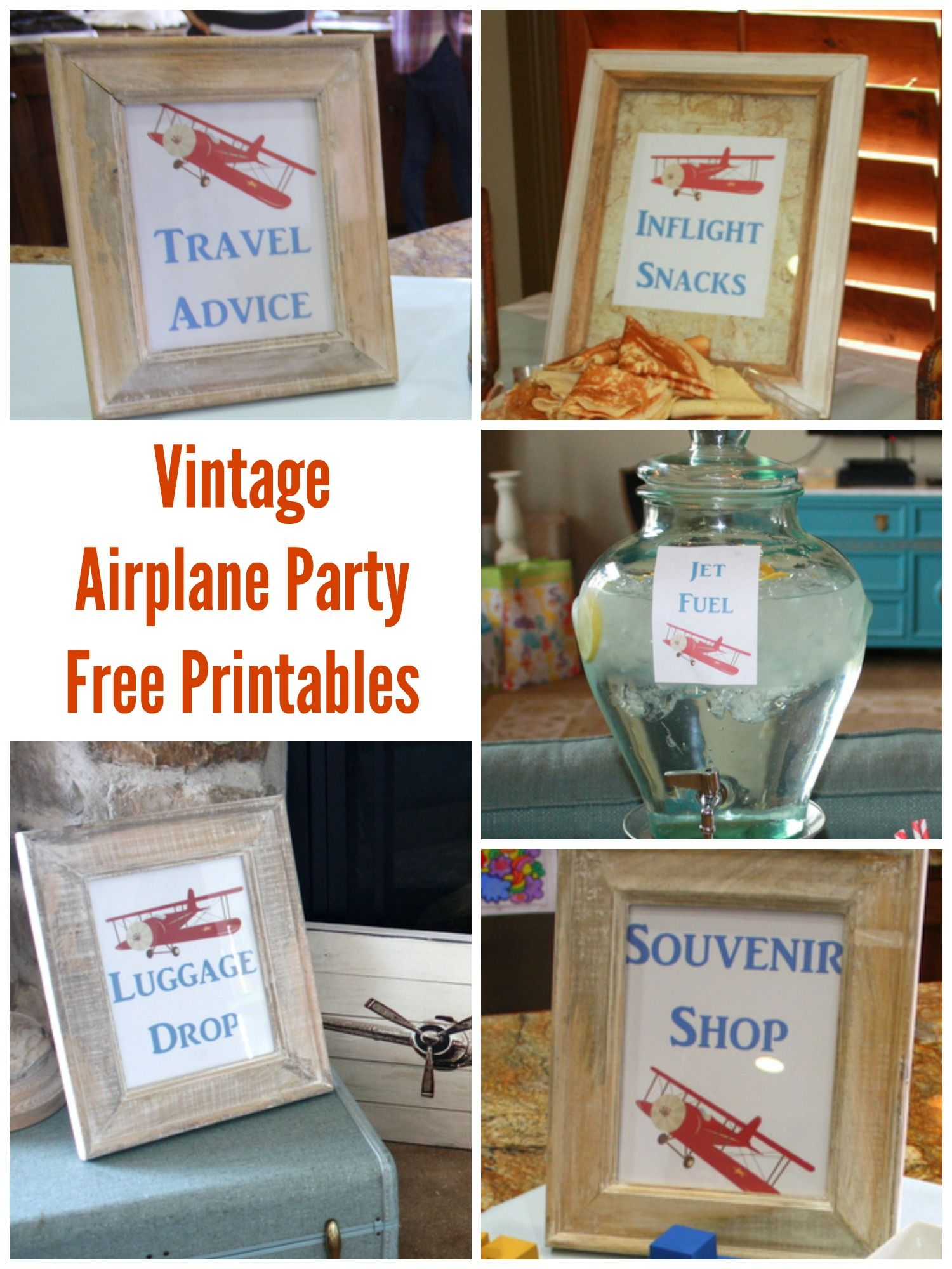Vintage Airplane Shower Printables eventstocelebrate
