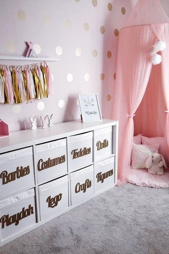 50 Best Fabulous Pink Girls Bedroom Ideas To Realize Their Dreamy Space Baby Room Decor Kid Room Decor Girls Room Decor Pink girls bedrooms ideaspink girls