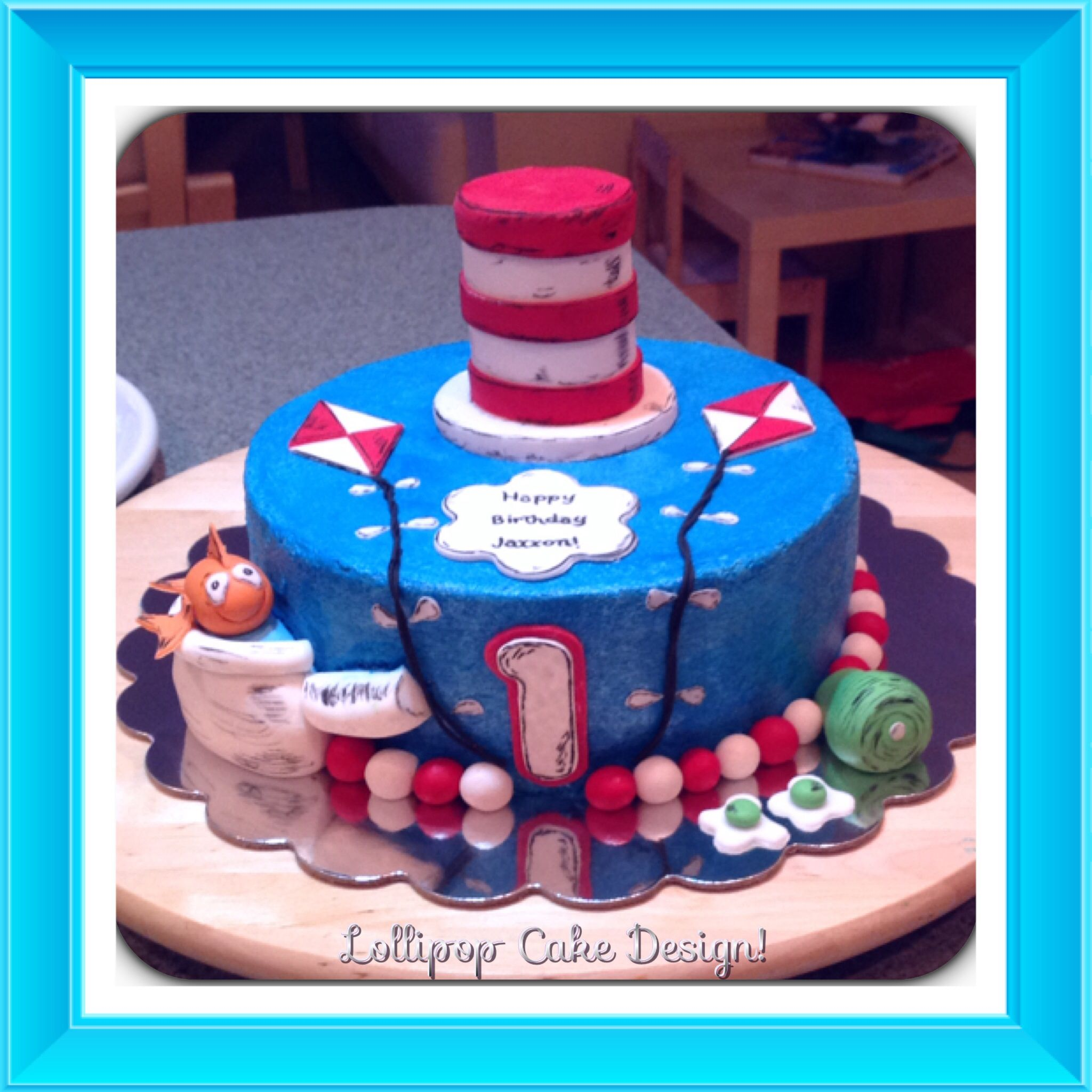 Dr Seuss Birthday cake Lollipop Cake Design Pinterest Dr