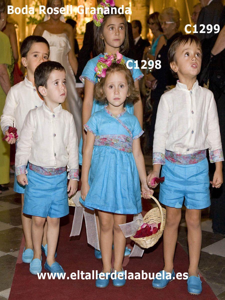 trajes de arras de la colección en hilo de colores de El Taller de ...