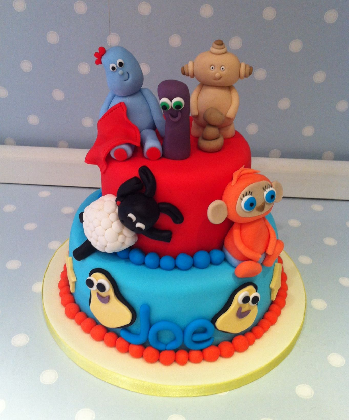 Pin Cbeebies Cake Little Cherry Cake On Pinterest