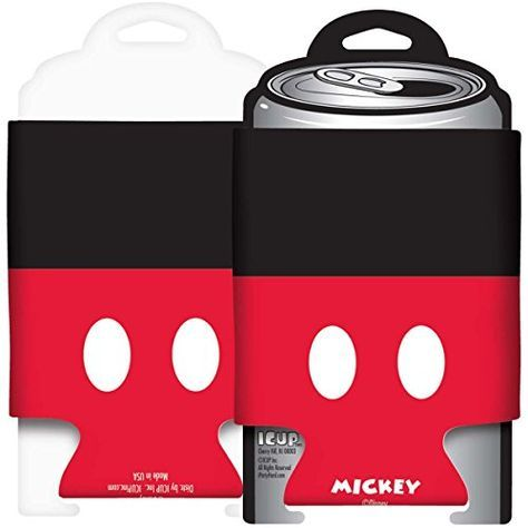 Mickey Mouse Buttons Foam Can Huggie/Koozie Disney