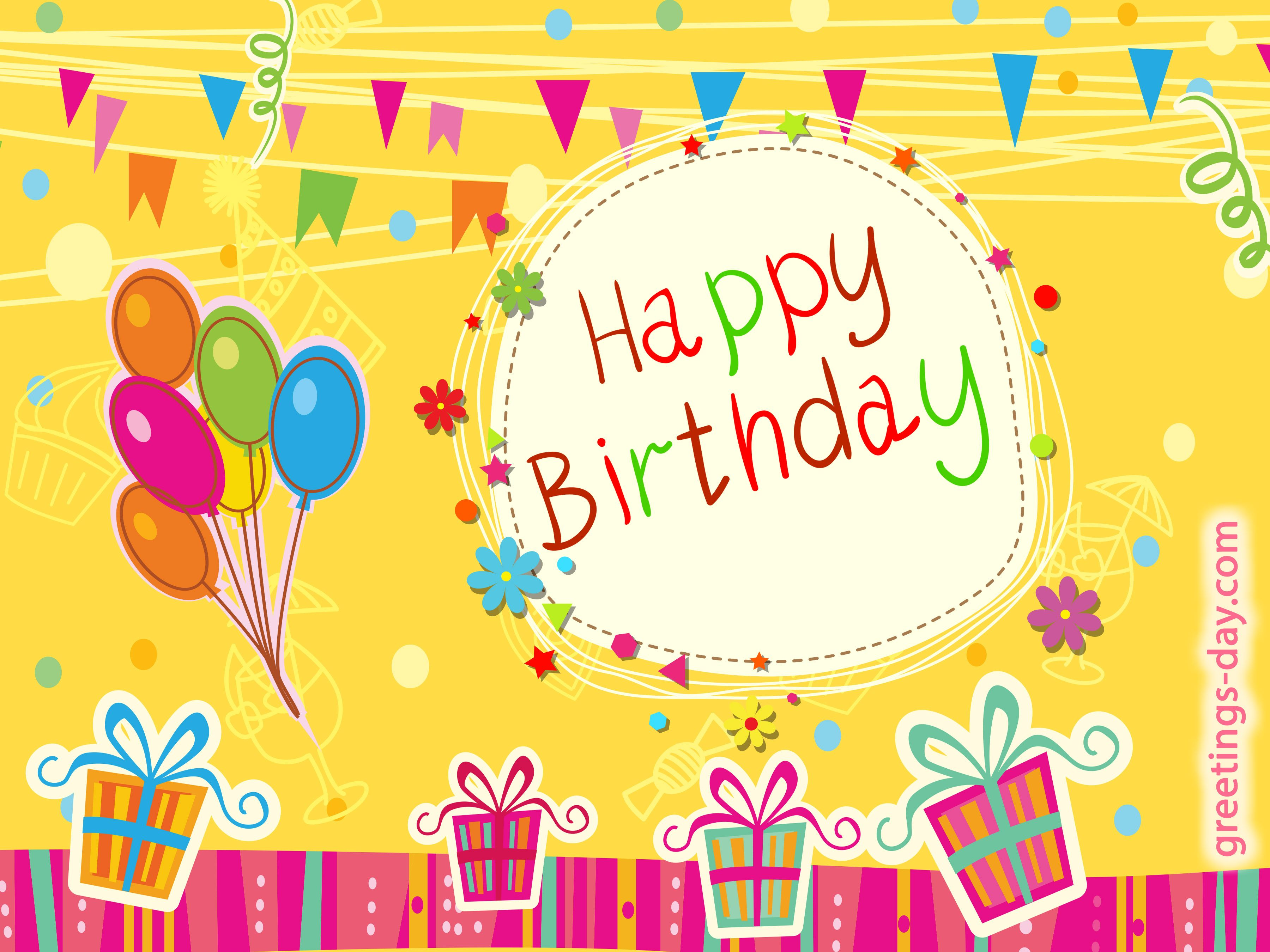 Happy birthday greeting Cards image to you friend on