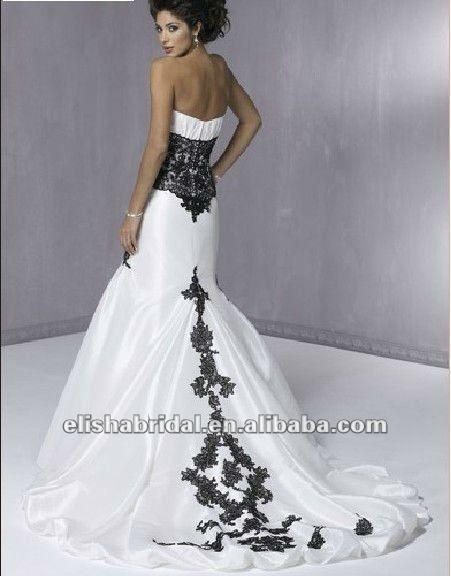 Vestiti Da Sposa Particolari Cerca Con Google Black Lace Wedding Wedding Dress Train Strapless Wedding Dress Mermaid