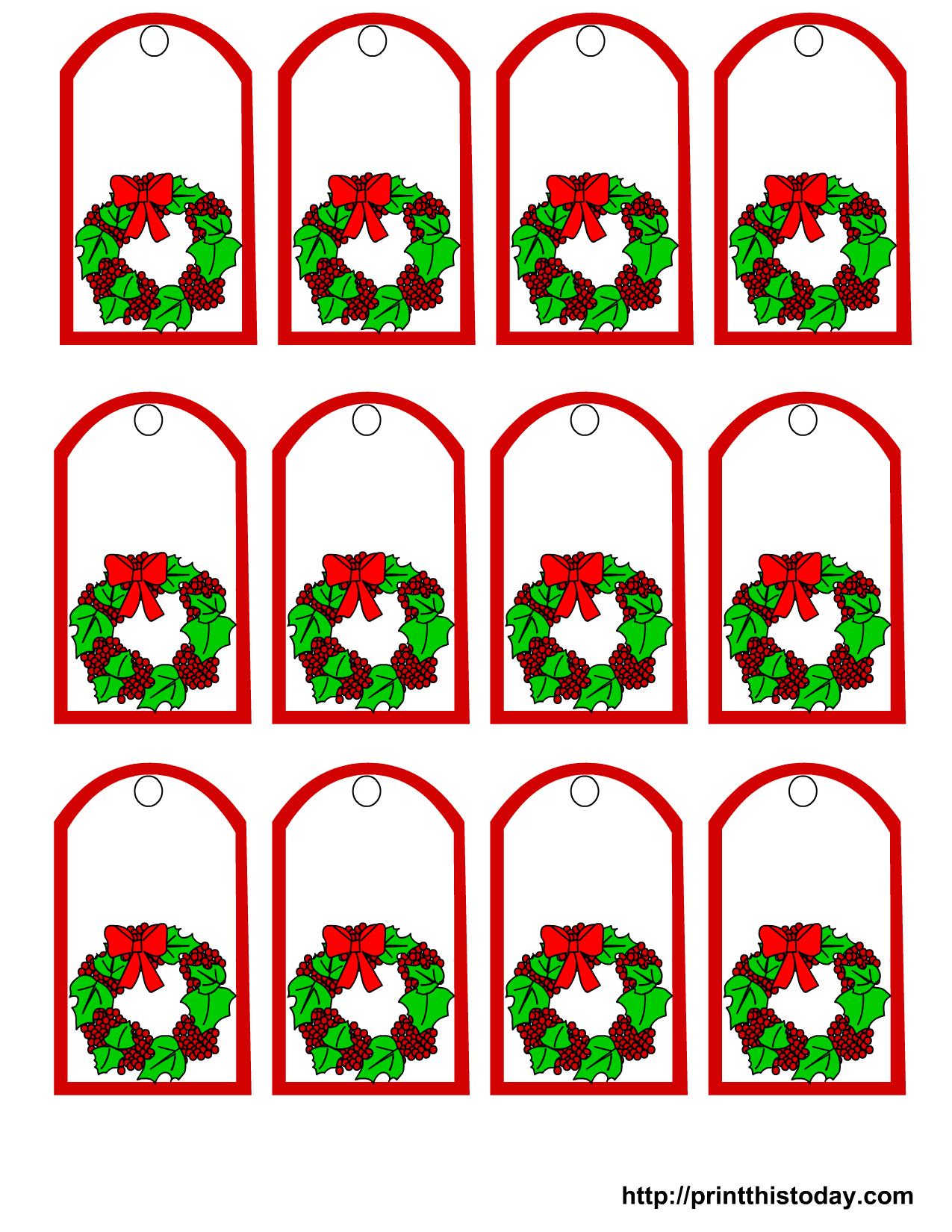 Free Christmas Gift Tags To Print Printable This Today