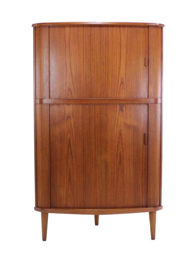 Best 1Stdibs Danish Modern Teak Corner Cabinet W Tambour 400 x 300