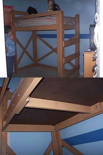 Best Loft Bed Basic Frame Underside Diy Diy Loft Bed Tiny 640 x 480