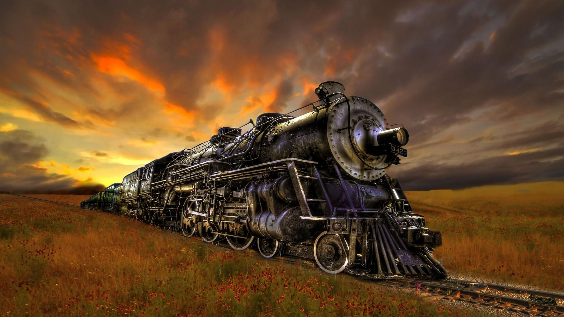 trains artwork HD Beautiful Steam Train Art Wallpaper