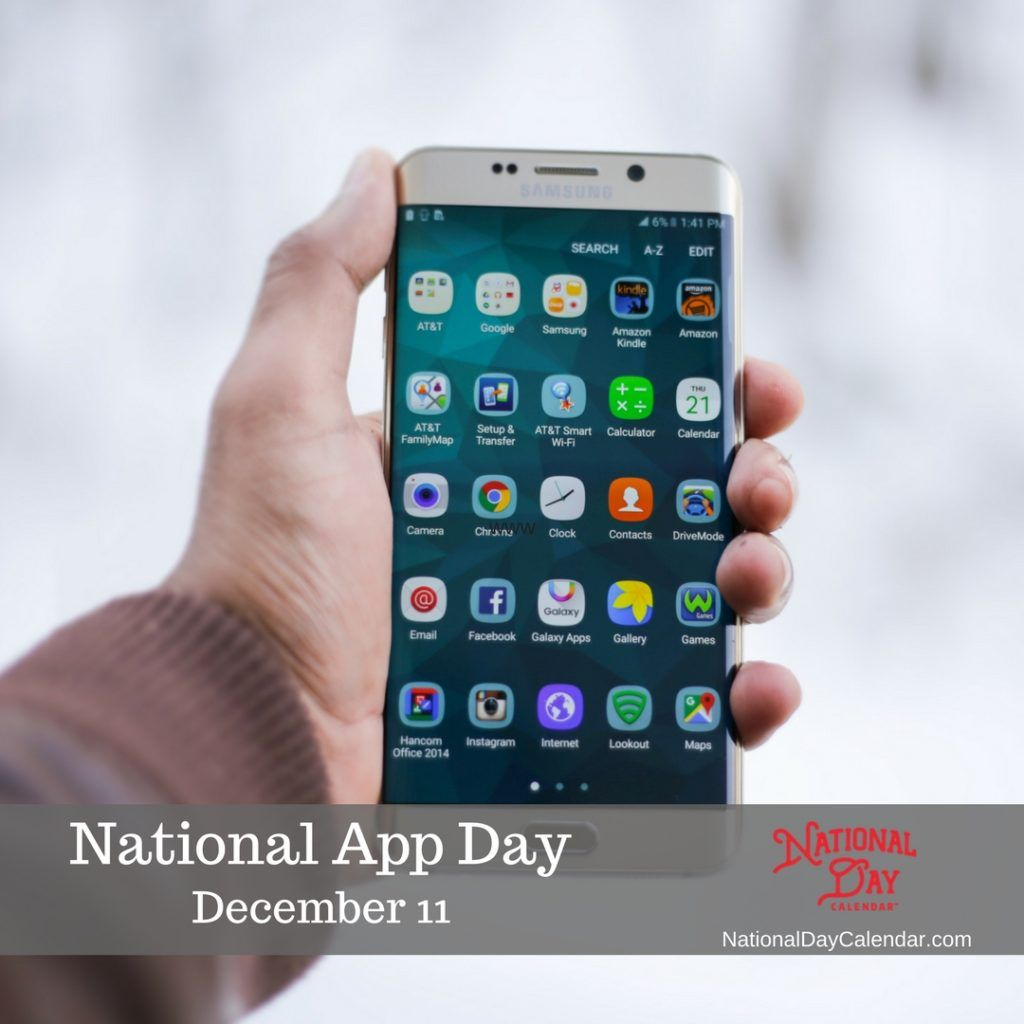 NATIONAL APP DAY December 11 National day calendar