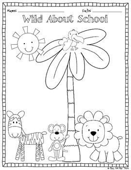 Wild About School Coloring Sheet With Images Kindergarten