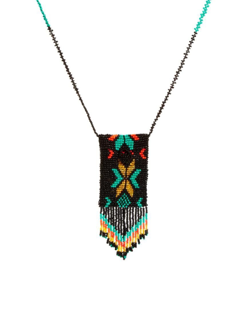 Asos Seed Bead Purse Necklace by ASOS